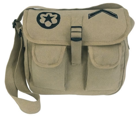 Ammo Shoulder Bag With Military Pouches Use as a Purse.