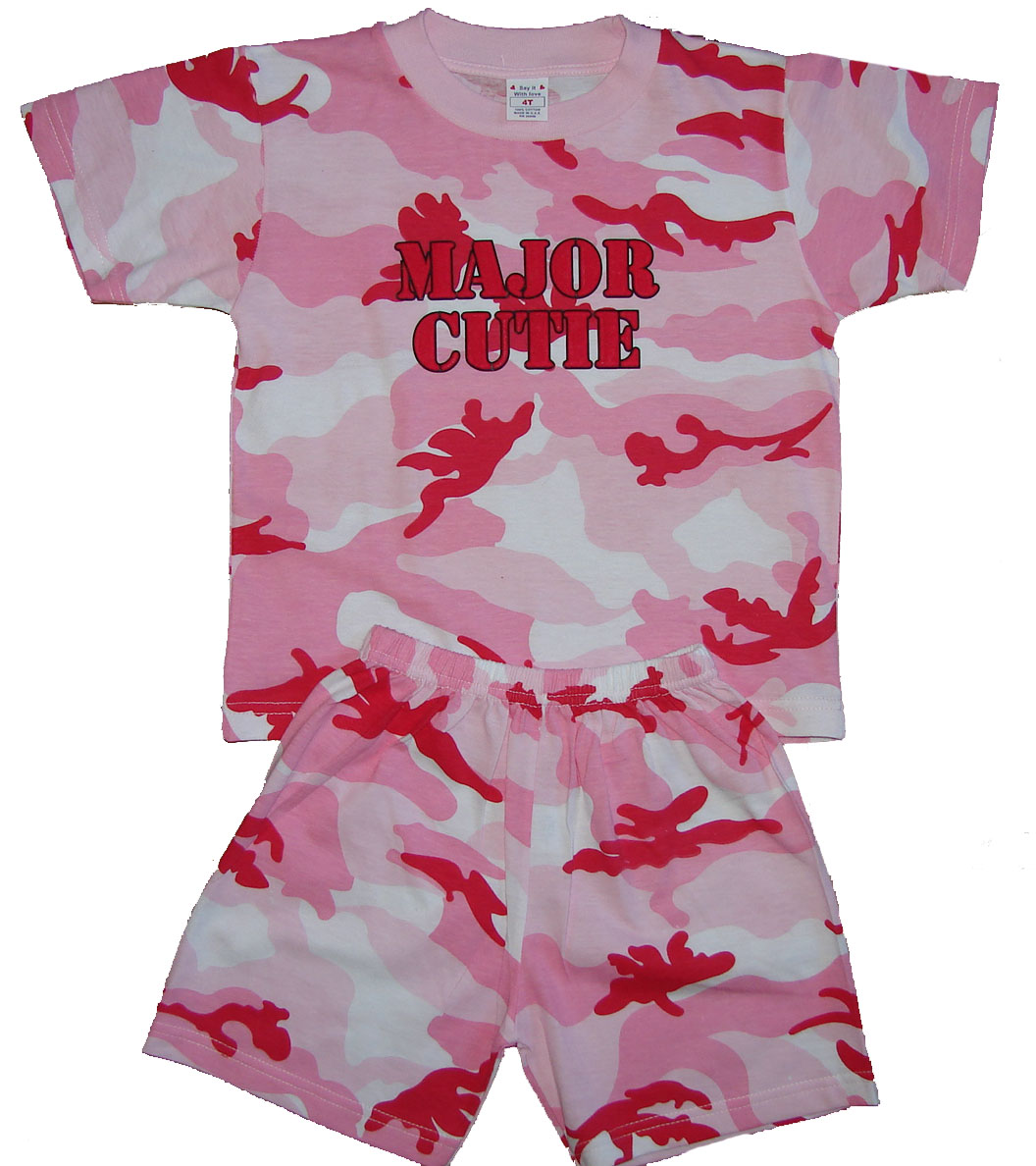 Major Cutie Pink Camo 2pc Set