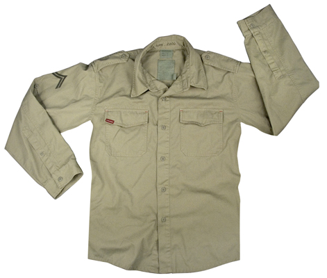 Ultra Force Khaki Vintage BDU Shirt