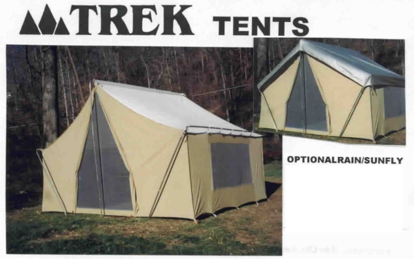 Cotton Canvas Cabin Tent 10' X14' Straight Wall