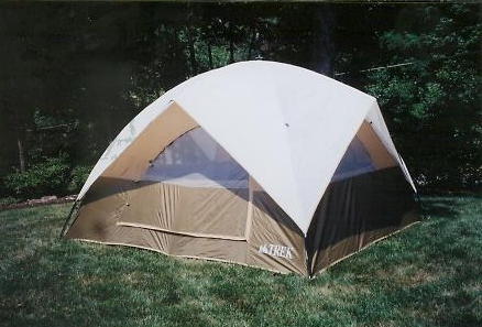 Family Dome Tent 10' X 10' With Double Ridge