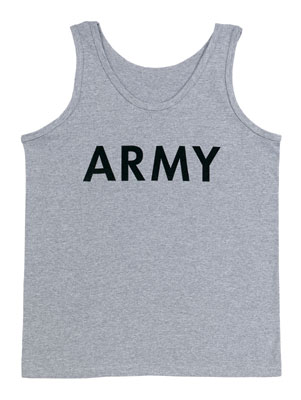 Grey Army PT Tank Top