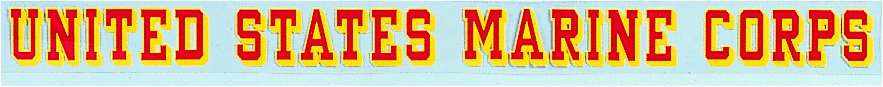 Decal- United States Marine Corps Window Strip