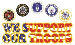 SUPPORT OUR TROOPS FLAG 3X5 f19